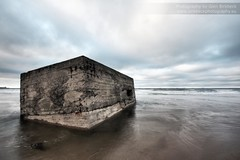 Sunken (~Glen B~) Tags: sea beach water sand wwii sunken surrounded sinking worldwar2 pillbox southgare