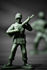 26/365 - 08/16/10: Green Army Man (KristyR929) Tags: toy soldier greenarmymen project365 project36526 nikond90 macromondays project36516aug10 project365081610 msh1111 msh111119