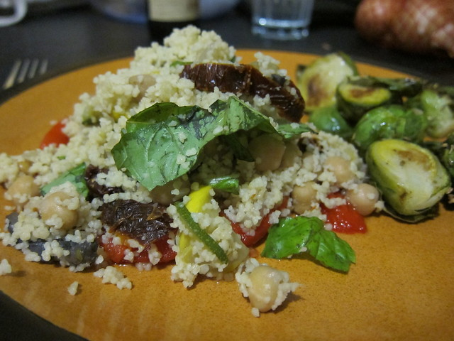 Yummy chickpea and veggie cous cous
