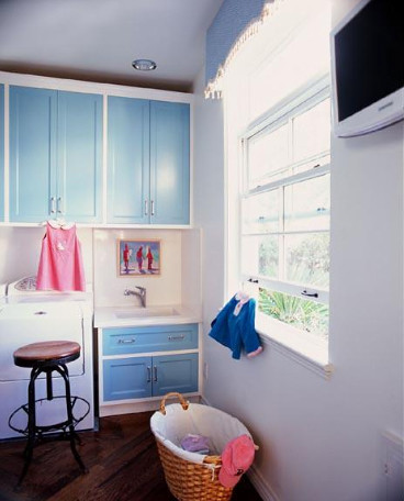 Ruthie Sommers Interiors - Blue Laundry Room