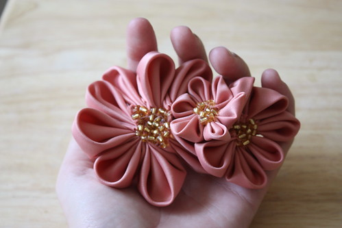 Pointed Kanzashi Flower Clip