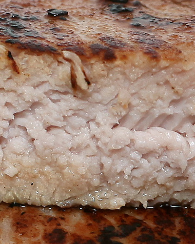 Sous Vide Pork Chop (cropped close-up)