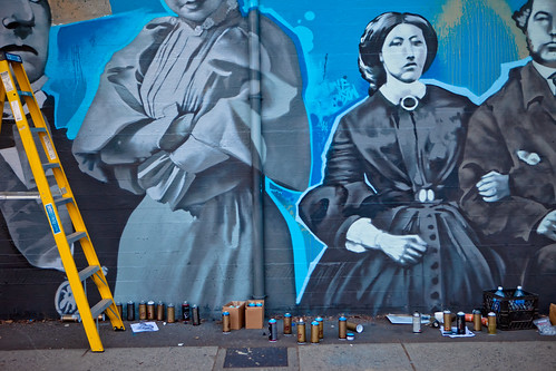 They Stand There Waiting - Beatty Street Mural - Vancouver, BC