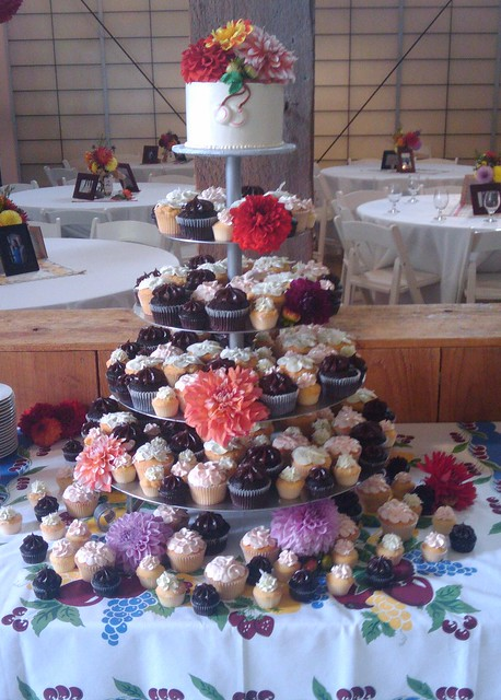 Retro cherries tower.