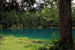 BlauSee . Switzerland (alkhaledi) Tags: blue sea sky lake color art canon reflections island photo amazing nice perfect exposure photographer swiss places explore shutter 5d fav amazed الخالدي alkhaledi balusee