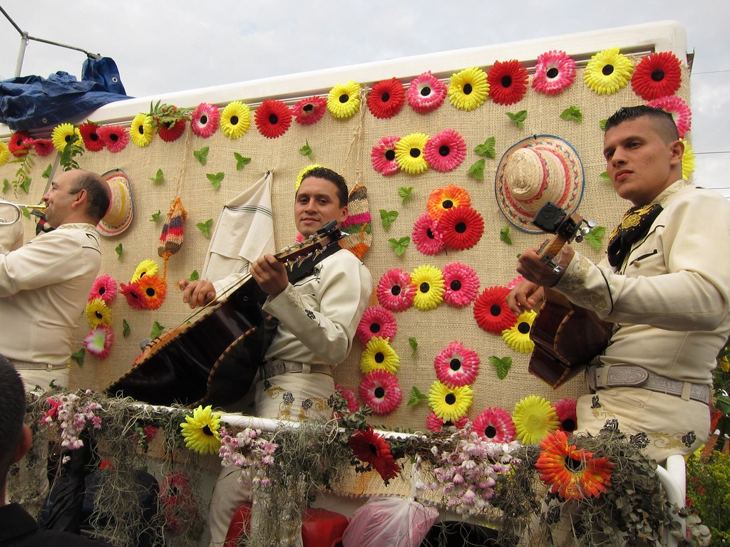 The mariachi band rolling along on a converted pick-up truck was a crowd favorite.