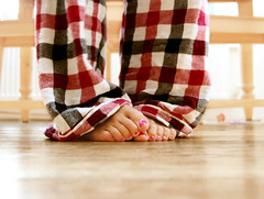 Day 157/365: For the love of pyjamas (ubermummy) Tags: feet toes floor pjs pyjamas checks tootsies 365days checkedpyjamas
