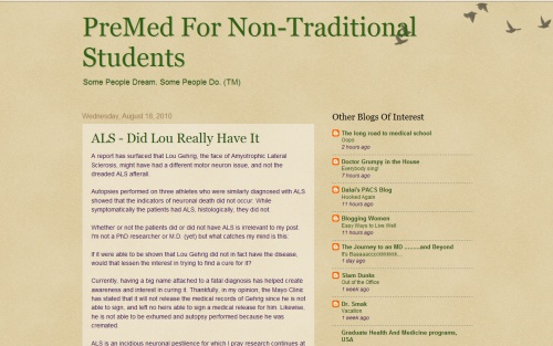 Pre Med For Non-Traditional Students