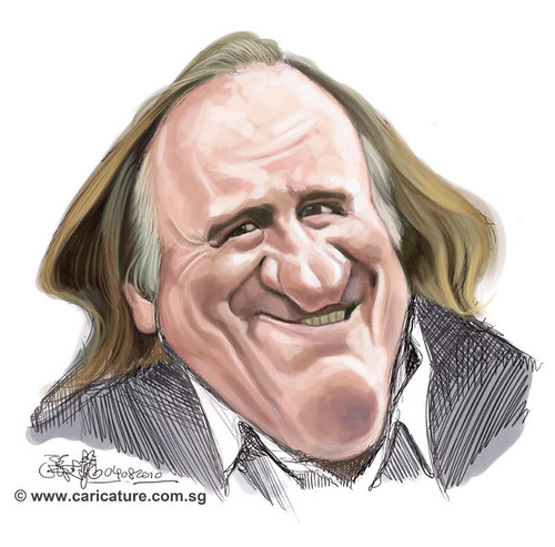 digital caricature of GÉRARD DEPARDIU - 1 small