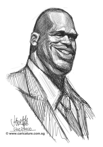 Schoolism Assignment 2 - sketch study of Shaquille O'neil - 3