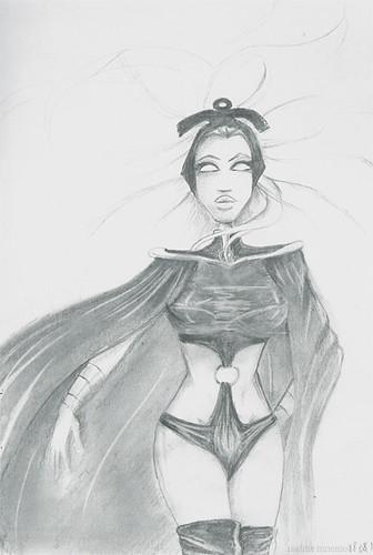 storm-x-men-marvel-ororo-nadine-mnemoi-sketch-boceto-croquis