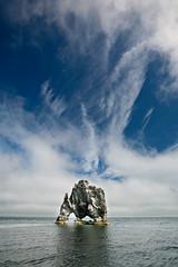 Hvítserkur (Pezti) Tags: blue sky cloud rock clouds ský himinn canoneos5d blár hvítserkur klettur canonef1635mmf28l