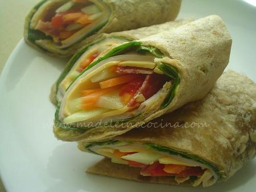 Wraps de pavo con verduras