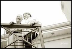Christine & Gary Balcony (inneriart) Tags: blackandwhite bw sepia photography utah amazing nikon couple artist married emotion anniversary unique fineart creative husband saltlakecity adobe american passion wife hg freelance freelancer inneri hannahgalliinneri christineandgary nikond300s photoshopcs5 inneriart innereyeart inneri wholehannah inneriartcom httpinneriartcom
