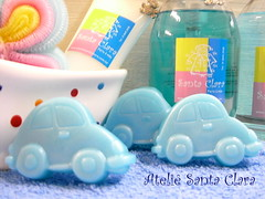 Fuscas (Roslia Prandi) Tags: soap infantil beb menina menino carrinho favors maternidade soaps fusca savon cubos sabonete lembrancinhas sabonetesartesanais atelisantaclara