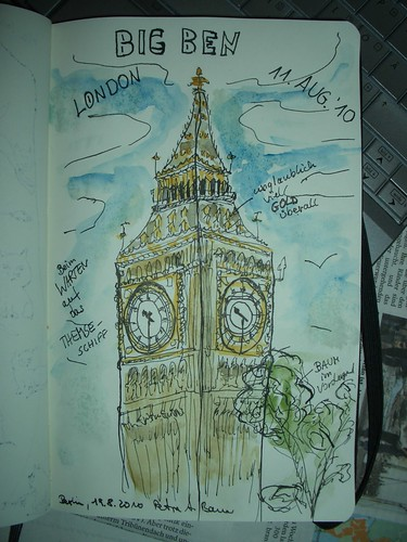 Big Ben coloured | Moleskine [20100820]
