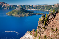 Crater Lake, Oregon (Nick Chill Photography) Tags: oregon landscape photography volcano nikon image stock bluewater scenic caldera creativecommons volcanic wizardisland craterlakenationalpark mountmazama d300s nickchill deepbluelake lakemajesty