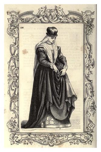 011- Mujer de la Edad Media de Toscana-Habiti antichi et moderni di tutto il mundo- Cesare Vecellio