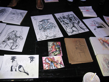 Lady Monster at Dr Sketchy's SF