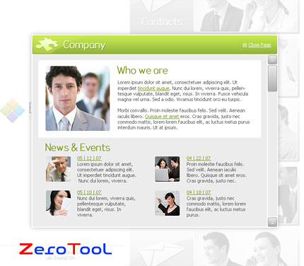 FlashMint 2004 Business line flash template