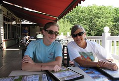 which pizza should we order? (karma (Karen)) Tags: family light shadows chairs restaurants maryland tables deepcreek garrettco