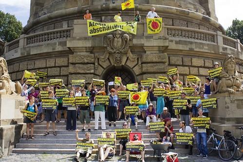 Atomkraft abschalten Mannheim am Wasserturm