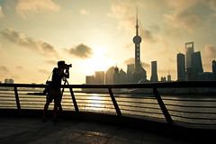Shooting Shanghai - 6:00am (samthe8th) Tags: china camera silhouette cool nikon shanghai sam peaceful calm explore shooting shooter uncool 6am cool2 shootingtheshooter cool5 cool3 cool6 cool4 matchpointwinner cool9 d700 flickrchallengegroup flickrchallengewinner cool7 cool8 iceboxcool thepinnaclehof tphofweek59 d700shanghai mpt204