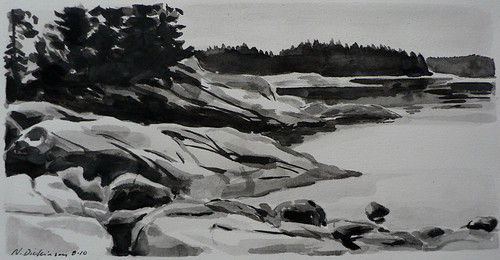 Drawing of Deer Isle