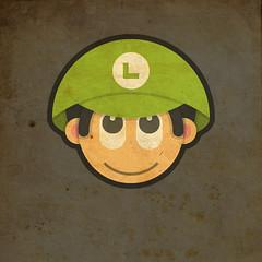 Todos Personagens de Mario Bros Cartoonizado Baby Luigi