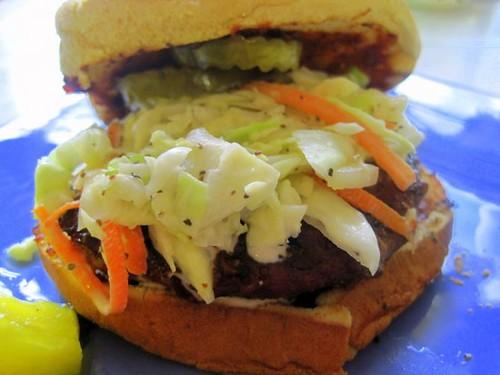Juicy Texas Burger Mangoes Chili and Z