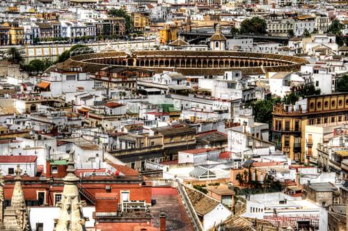 Maestranza bullring. Seville. Plaza de toros de la Maestranza. Sevilla.