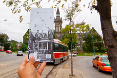 Travelling through time on the Spadina Streetcar (erik_mauer) Tags: toronto train ttc archive transportation historical spadina streetcar torontotransitcommission cityoftoronto lookingintothepast 1spadinacres
