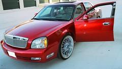 Cadillac-DTSred (texanwirewheels) Tags: