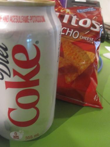 chips, soda - $2.50