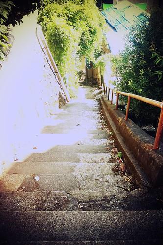 熱海にて。階段。
