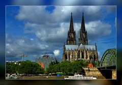 Just a Dream   (My Hometown ) (scorpion 13 I'm in vacation ;o))) Tags: city bridge blue friends sky panorama music clouds germany t hall ship cathedral o cologne s historic h frame p rhine philharmonic  hohenzollern inthemood  motivations gr8photos