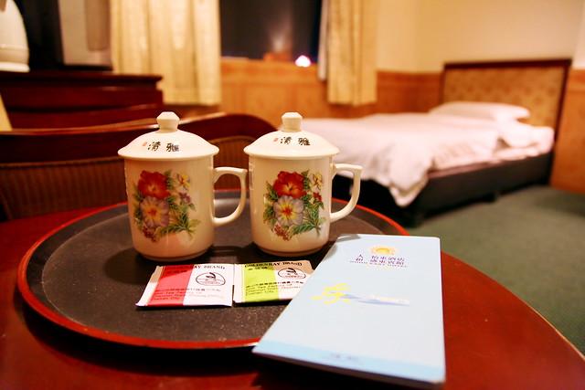 Tea cups in the hotel, Guangzhou, China
