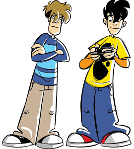 Penny Arcade main characters, Tycho and Gabe