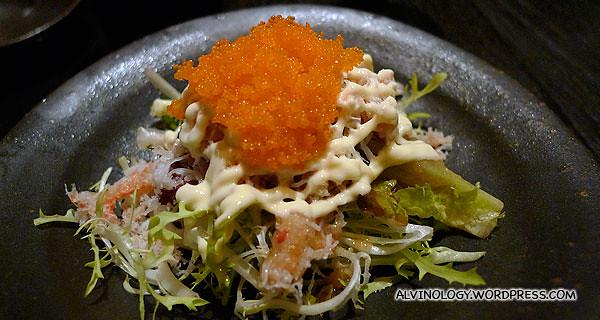 Hokkaido King Crab fillet salad