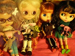 Dizzy, Helena, Charlie, and Alice all have dolls.
