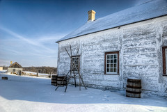 History at a Standstill 3 (Wayne Stadler Photography) Tags: old winter snow canada cold building wooden seasons fort historic manitoba restored garry