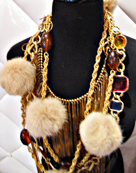 vintage necklaces at Annie Creamcheese Vegas