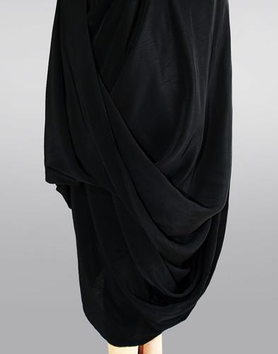 vivienne westwood dress black. Vivienne Westwood Anglomania, Looped Hem Crossback Dress, Black, Size 10
