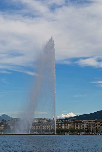 jet d'eau and mont blanc