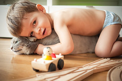 Kai (Cea tecea) Tags: boy cat kai 23months