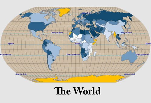 The world military map