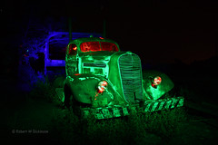 Light Painted Truck (eoscatchlight) Tags: arizona lightpainting abandoned jerome oldtruck retired cartransport goldkingmine canonef28mmf18usm ledlightpainting rightbrainphotography rgblitegun led2lite