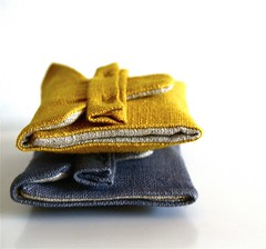 (Yorktown Road) Tags: yellow grey golden linen stack sewn wallets handdyed cardholders ytr