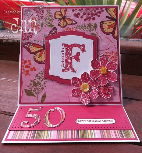 Jans Cards Crafts Musings Friends 50th Birthday Card