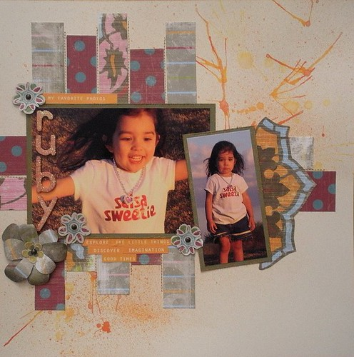 Ruby Scrapbook Layout
